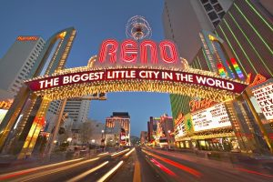 Neon Arch Sign in Reno